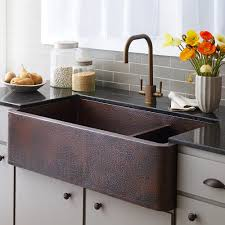 farmhouse duet pro copper sink native trails farmhouse kitchen old sink full size