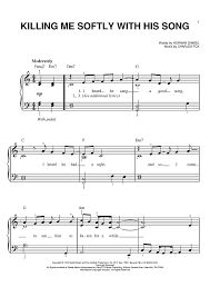 don t fear the reaper sheet music roberta flack killing me softly with his song sheet music