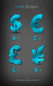 3d Symbol Designer 4 Designer 4 Currency Symbols 3d Crystal Texture Of The Icon
