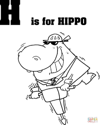 Small Picture Letter H is for Hippo coloring page Free Printable Coloring Pages