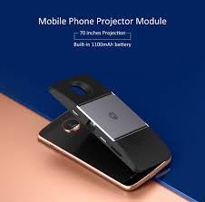motorola projector. original motorola mobile phone projector module 70 inches projection 1100mah battery for moto z / o