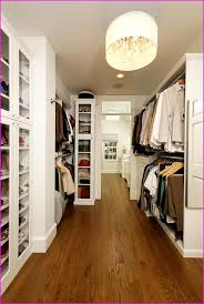 awesome design of the closet light fixtures with brown wooden floor added with white wooden shelves