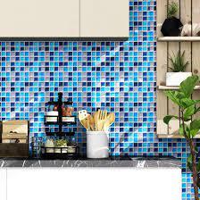 Buy Yenhome Mosaic Blue Wallpaper ...