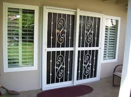 sliding glass door burglar bars awe inspiring security for doors designs home ideas 4