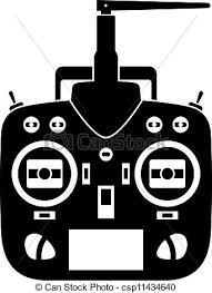 remote control drawing. vector - remote control rc transmitter black icon drawing