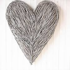 Large Wicker Heart With Lights Extra Large Wicker Wall Heart Natural Wicker Hearts Heart