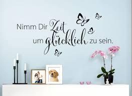 Wandtattoo Spruch Nimm Dir Zeit Um Glücklich Zu Sein W5172 Sprüche