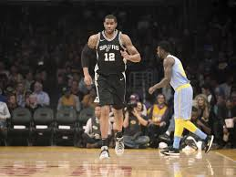 san antonio spurs forward lamarcus aldridge 12 during the first quarter of an nba