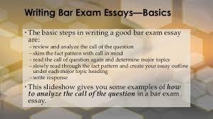 Bar Exam Essays Bar Exam Essay Class Call Of The Question