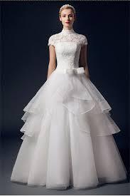 High Neck Wedding Dresses White Long Wedding Dresses Charming
