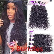 Peruvian Wavy Hairstyles Peruvian Virgin Hair Water Wave Wavy Hair Weave Bundles Loose Curl
