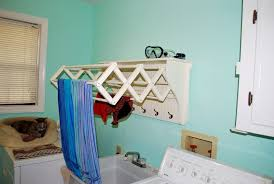 wall mounted accordion drying rack home designs insight