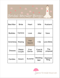 Wedding Bingo Words Free Printable Bridal Shower Bingo Game