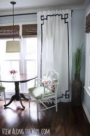 50 diy curtains and dry ideas no sew diy greek key curtain panels easy