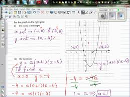 writing equation of a parabola and its transformation from the vertex form