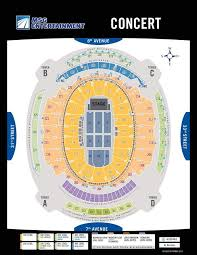 Msg Concert Chart Seating Madison Square Garden New York City Msg