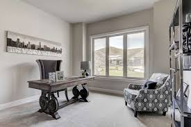 real estate office design. Modern Gray Home Office With Carpet Flooring Real Estate Design