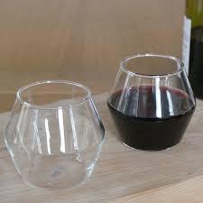 four handblown modern wine glasses by huta  notonthehighstreetcom
