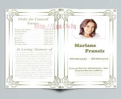 Free Memorial Templates Funeral Program On The Download