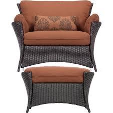 hanover strathmere allure 2 piece seating set rust espresso hanover