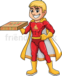 pizza delivery clipart. Contemporary Delivery Superhero Pizza Delivery Boy PNG  JPG And Vector EPS Infinitely  Scalable Throughout Pizza Delivery Clipart
