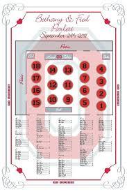 Ohio State Wedding Seating Chart Theme Ncaa Team