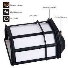 23w outdoor dusk to dawn led wall light torchstar photocell flat lightbox moreview 3 to