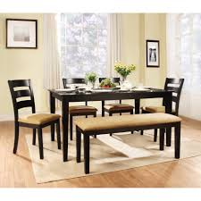 Rectangular Dining Room Lighting Contemporary Dining Room Set With Black Upholstered Chairs Also
