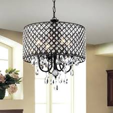 rock crystal and wrought iron chandelier black wrought iron and