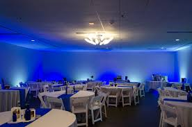 blue and white led lights for wedding reception color changing led flood lights act as wall washers and bring the reception hall to life