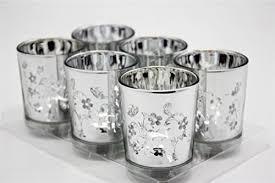 v more laser cut mercury glass votive candle holder tealight holder 2 55 inch tall