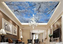 3d ceiling custom 3d wall mural wallpaper winter sky ice tree snowflakes ceiling photo wallpapers for living room 3d ceiling wallpaper uk 2019 from