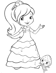 Pleasant Idea Strawberry Shortcake Outline Coloring Pages Free