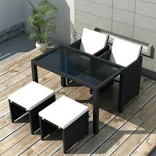 11 piece outdoor dining set outdoor dining set piece black poly rattan garden table chair stool penge 11 piece wicker outdoor dining setting black