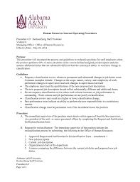 University Of Alabama Organizational Chart Procedure 6 9 Reclassifying Staff Positions Volume 6