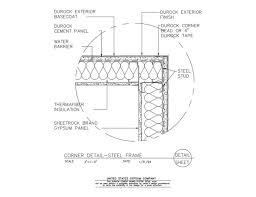 metal framing header detail. Interesting Framing 09 21 1603225 DUROCK Corner Detail Steel Framing And Metal Header