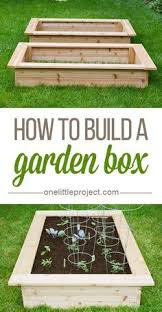 how to make a garden box.  How How To Build A Garden Box  This Step By Photo Tutorial Shows Exactly  How Make One Inside To Make A Garden Box E