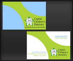 dental visiting card design playful colorful dental business card design for capital childrens