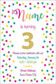 Polka Dot Invitations Rainbow Polka Dot Birthday Invitation