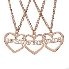whole best friends pendant necklaces silver gold heart friendship f necklace for women girls fashion jewelry drop necklace charm bracelets