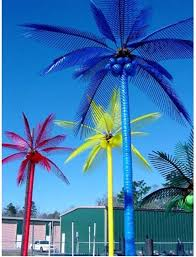 22 3 lighted led palm trees