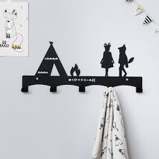 Nursery Coat Rack Teepee Children's Coat Rack Nursery Wall Hanger 12