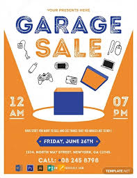Free Garage Sale Flyer Template Word Psd Apple Pages