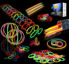 Glow Sticks Bulk 200 8'' Glowsticks (Total 456 PCs 7 Colors);