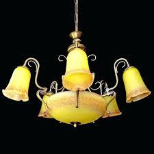 art nouveau chandeliers antique
