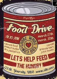 Food Drive Flyers Templates Food Drive Free Flyer Psd Template Psdflyer Co