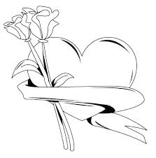 Beautiful elephant in an indian style. Roses And Hearts Coloring Pages Best Coloring Pages For Kids
