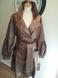 details about las rain mac coat double ted centigrade qvc bronze gold clearance