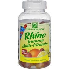 Nutrition Now <b>Rhino Multi</b>-<b>Vitamin</b>䋢 <b>Gummies</b> - 190 <b>Gummies</b> ...