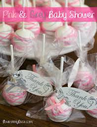 pink and grey girl baby shower theme cake pops via flouronmyface com